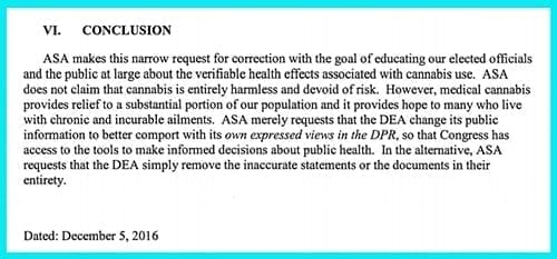 ASA makes correction request to DEA