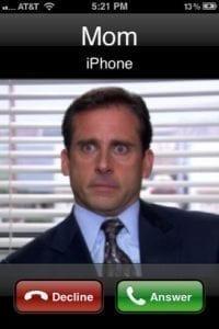 calling mom