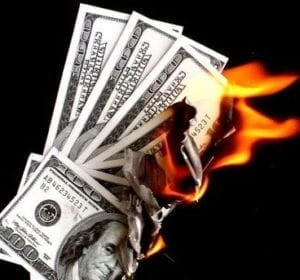 Money Up In Flames