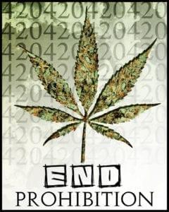 End Prohibition of Marijuana Banner