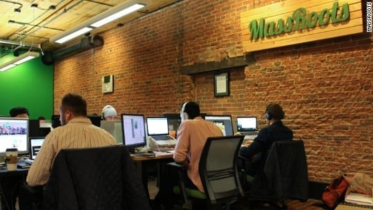 Busy MassRoots Employees