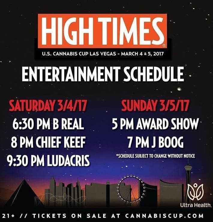 High Times Cannabis Cup Las Vegas Performers