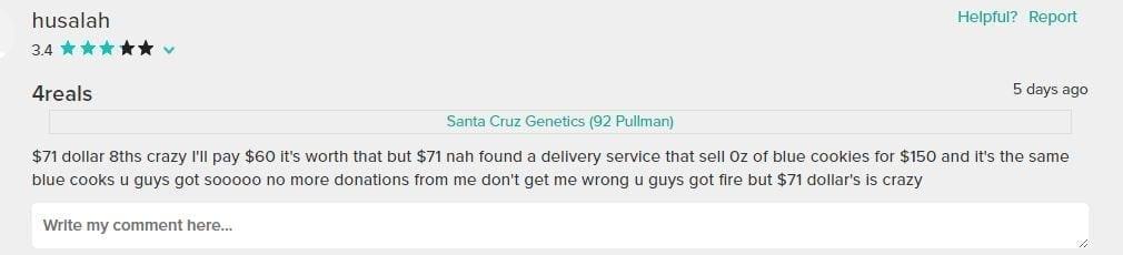 Unhappy Customer Review About Pricing At Santa Cruz Genetics