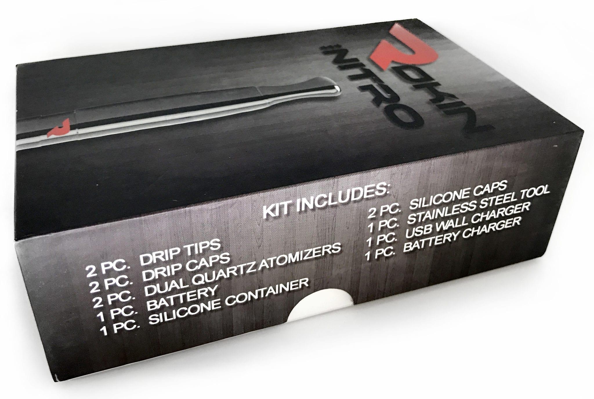 Contents Of The Rokin Nitro Vaporizer Kit