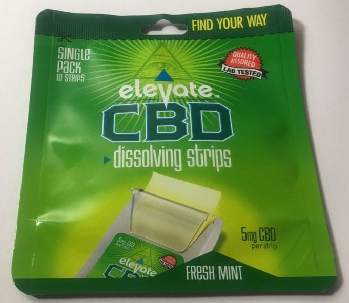 elevate CBD strips review