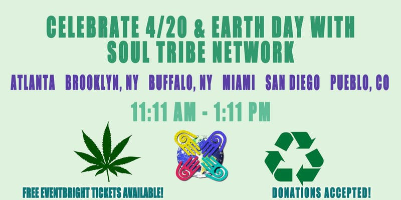 5 City Soul Tribe Network 420Earth Day Synchronicity Walk and Clean Up