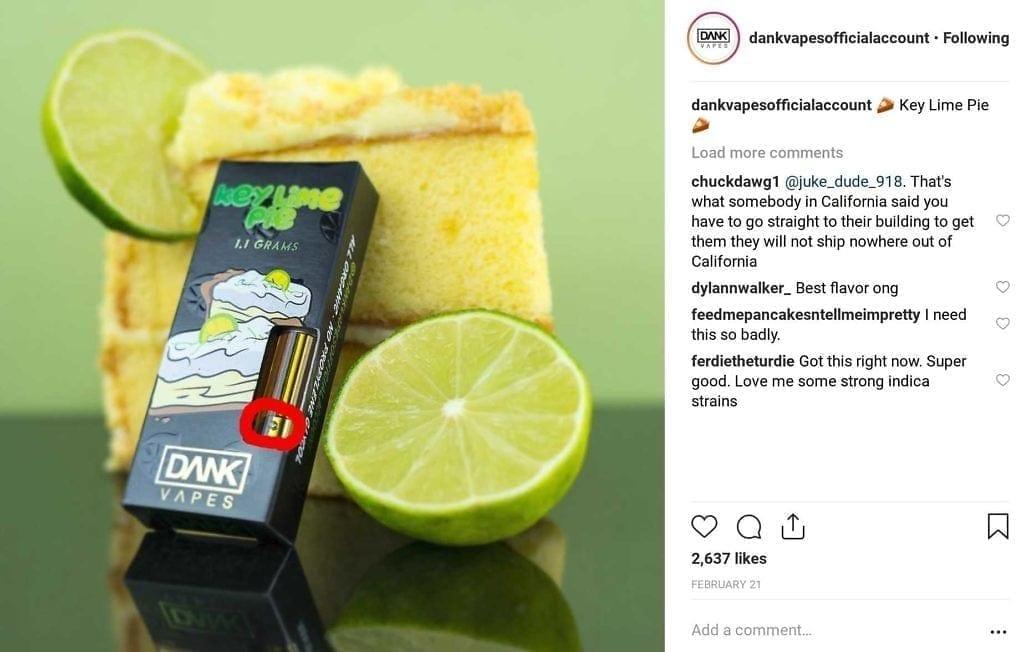 Fake Dank Vapes Carts: New Packaging, Updated April 2019