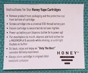 Honey Vape Cartridge Instructions