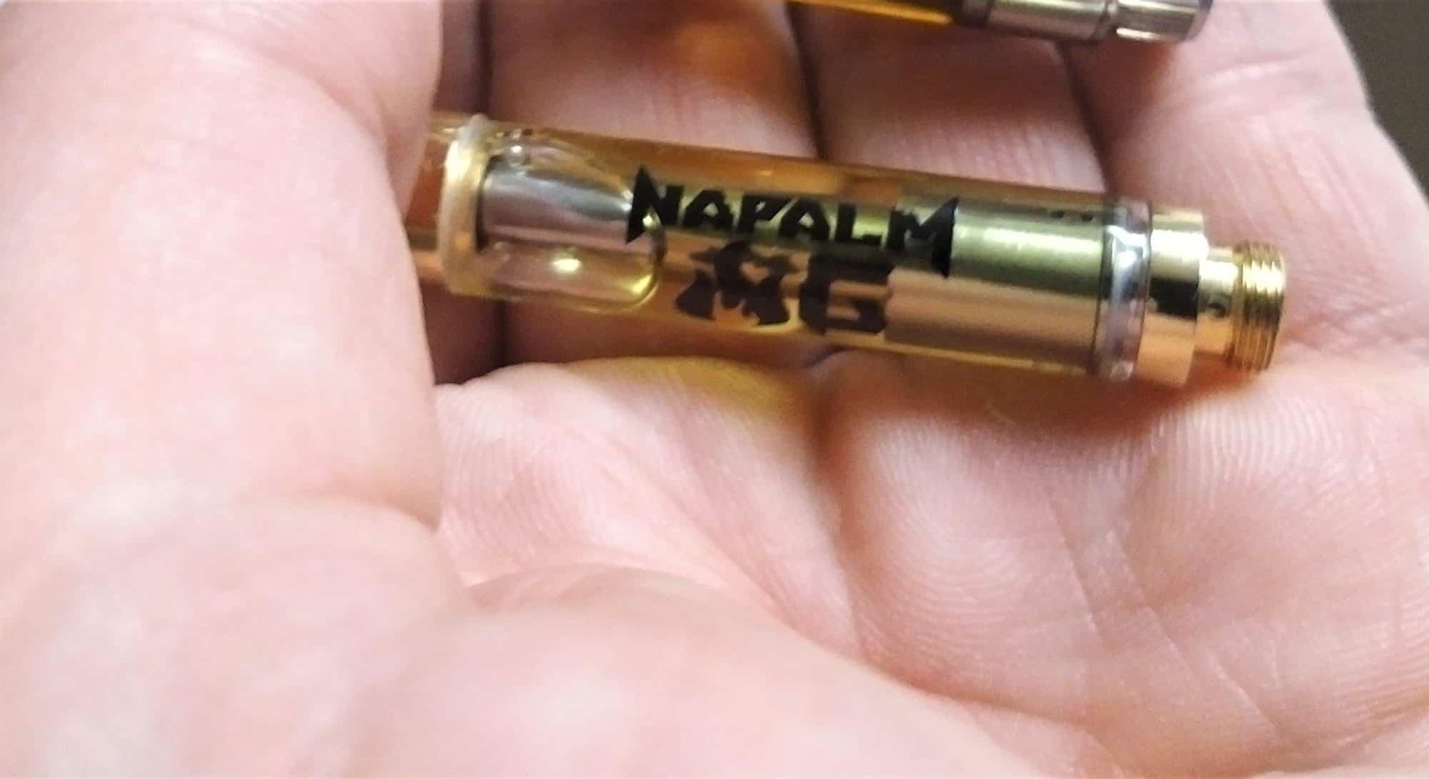 brass knuckles napalm og cannabis vape cartridge
