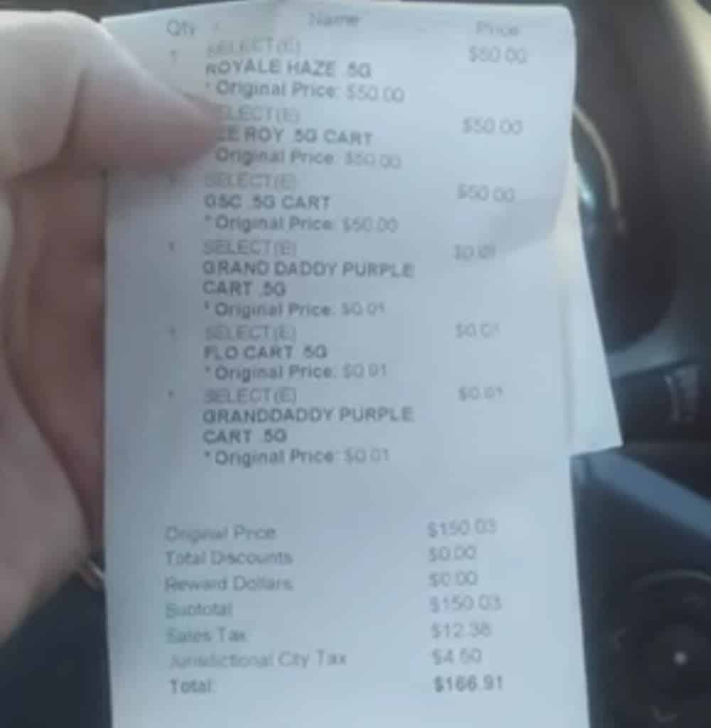 essence tropicana west receipt