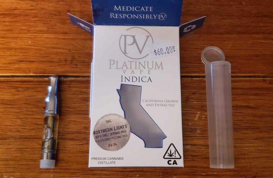 Platinum Vape Cartridge Review: True to Strain Taste