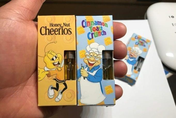 fake cereal carts