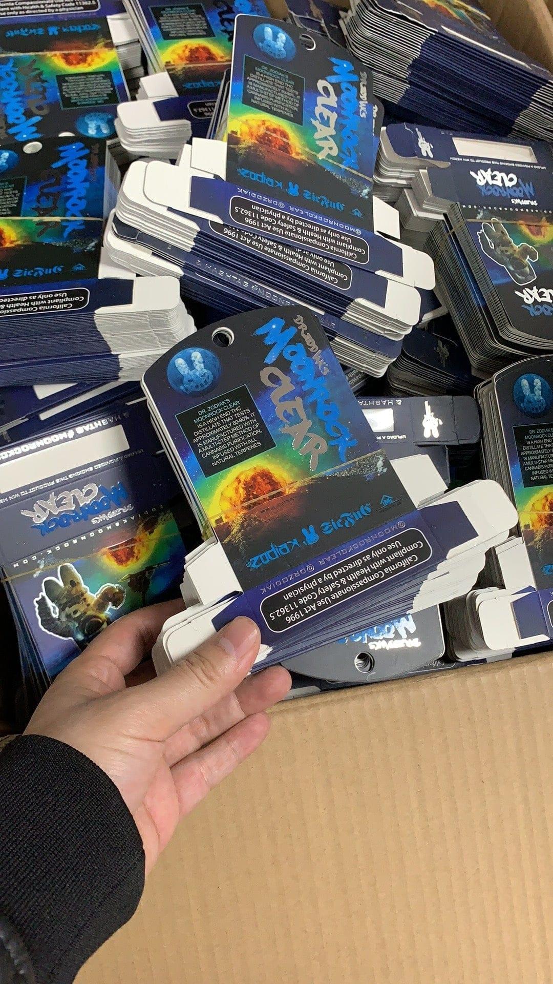 Dr. Zodiak's Moonrock fake packaging