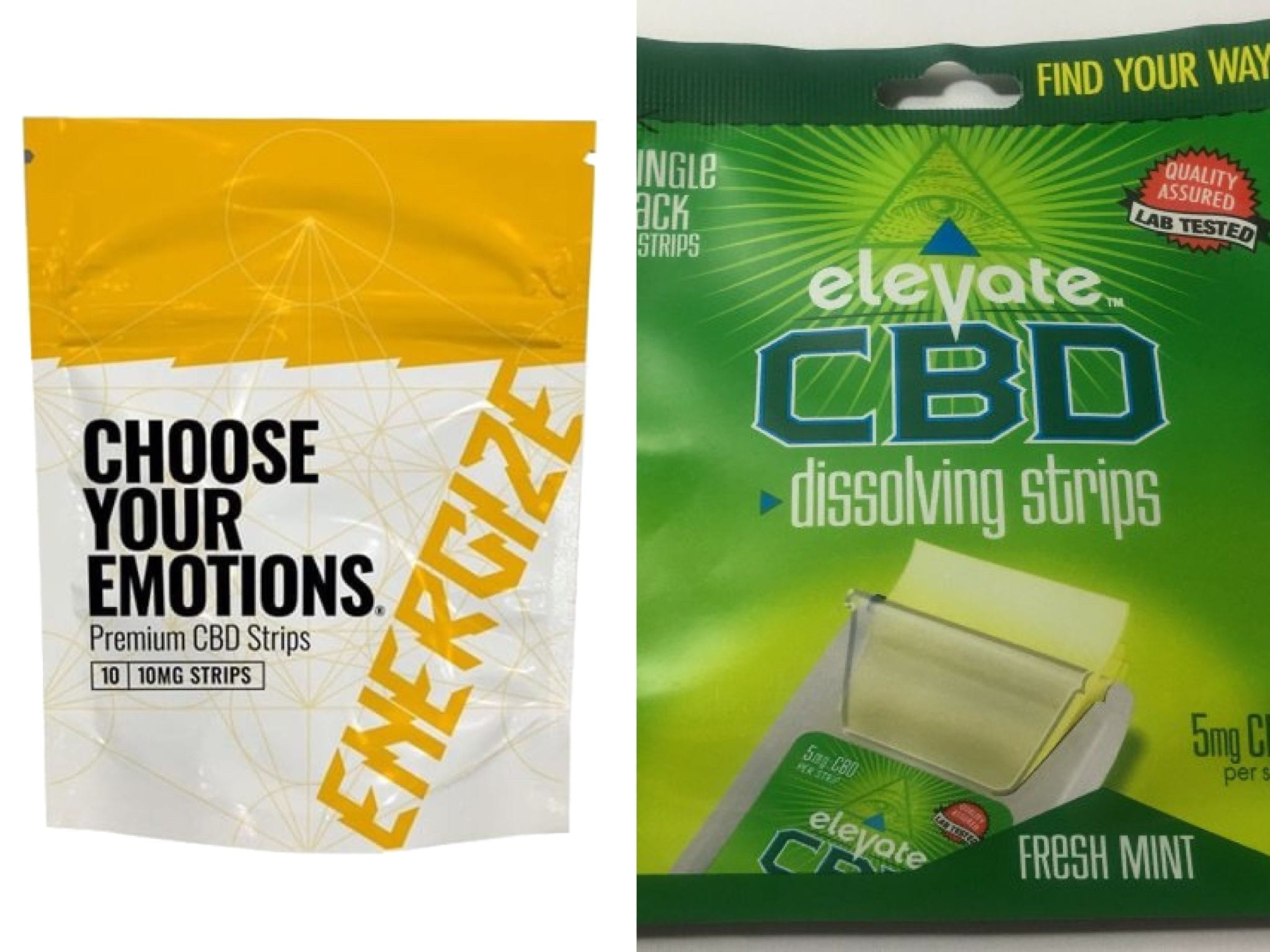 choose your emotions and elevate cbd strips