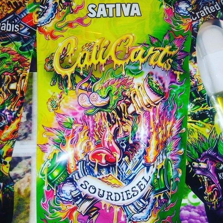 Cali Cart psychedelic packaging