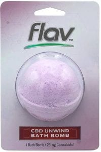 Flav bath bomb packaging