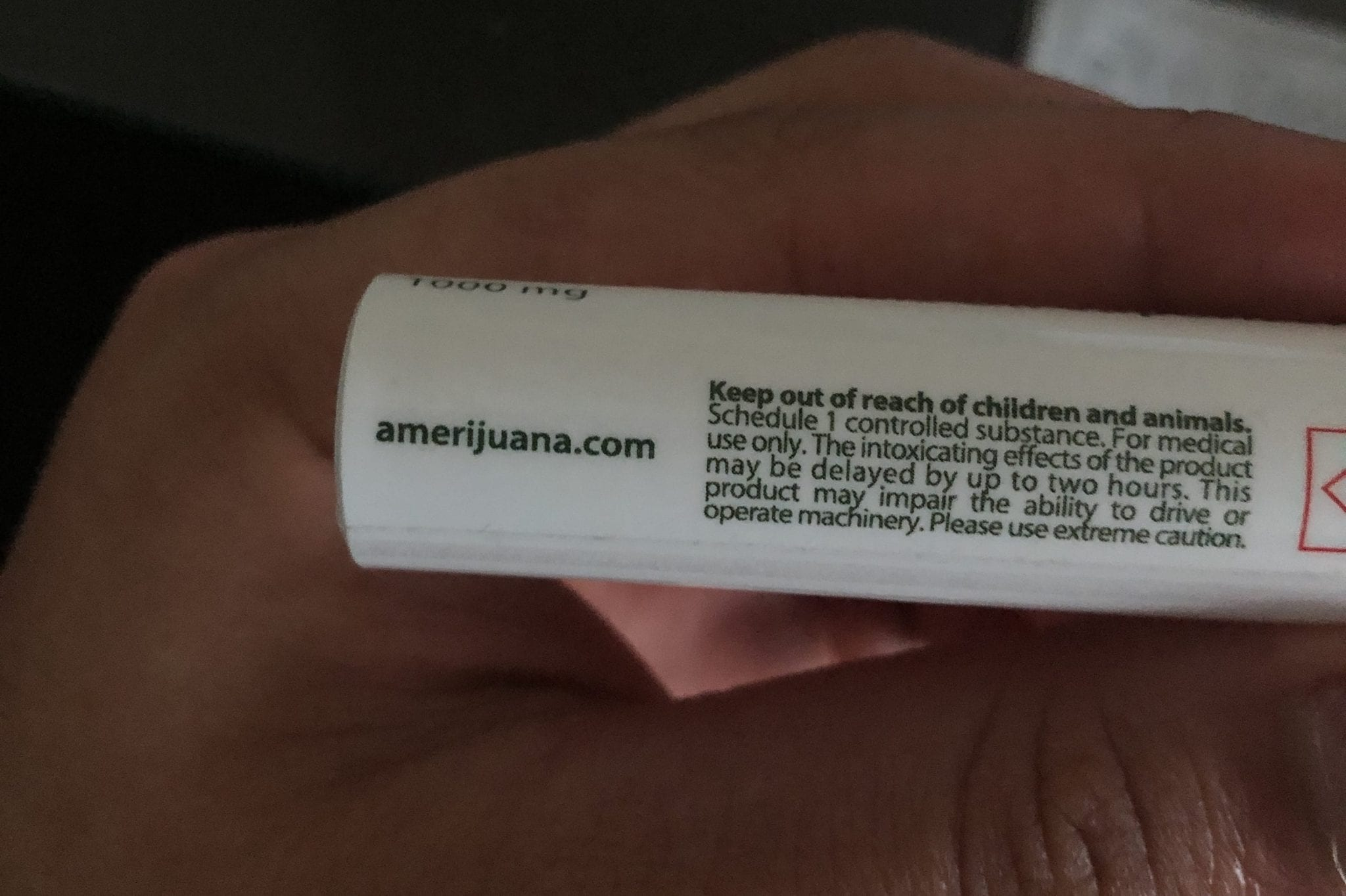 amerijuana cartridge packaging