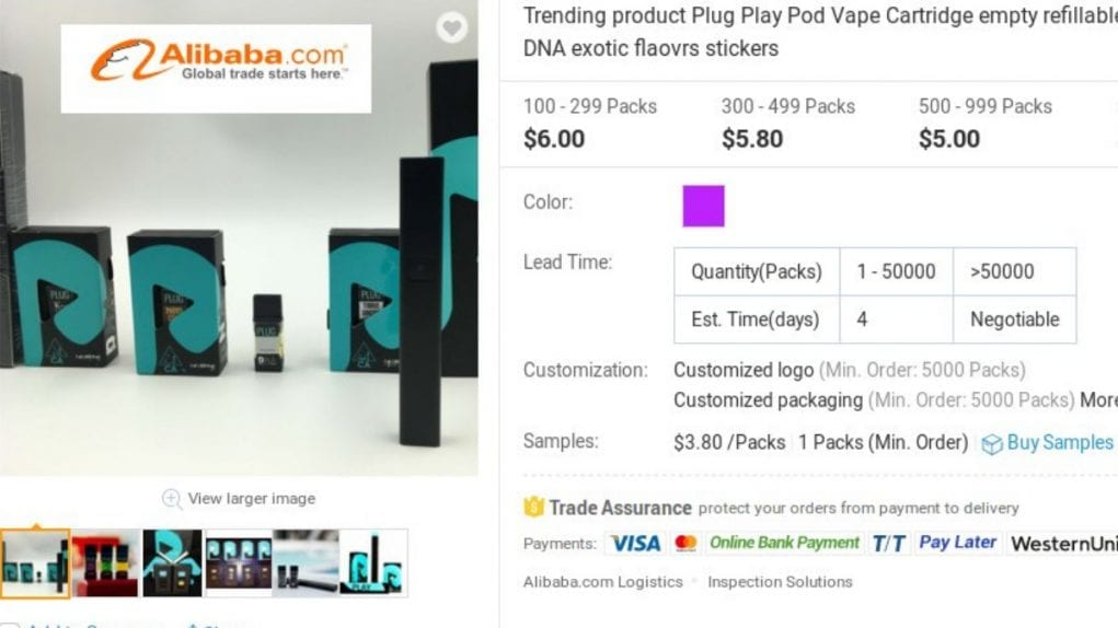 fake Plug cartridges being sold