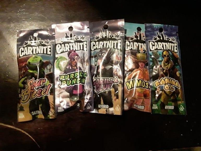 Cartnite fake brand oil cartridges