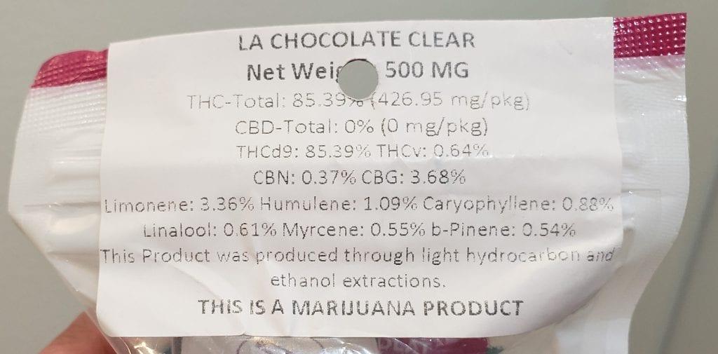 cannavative la chocolat clear test results
