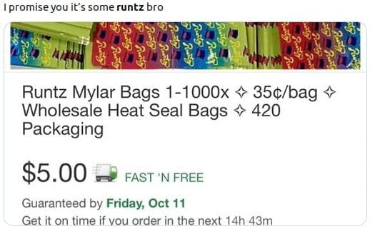 Runtz bags for sale