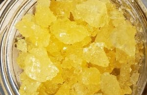 a sample of live resin
